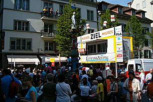Lucerne city race 2005: Finish