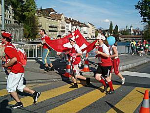 Lucerne city race 2005 fun category: Swissness