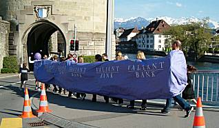 Lucerne city race 2005 fun category: worm